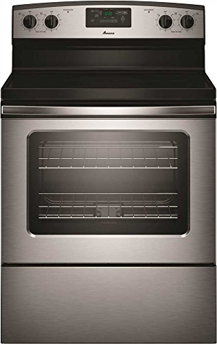 Amana AER5330BAS Stainless Steel 4.8 Cu. ft. Smooth Top Electric Range with Radiant Elements