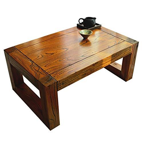 Tables Balcon Baie vitrée Chambre lit Bureau Style Japonais Basse Tatami Basse Salon Cérémonie du thé Basse Basses (Color : Brown, Size : 60 * 40 * 30cm)