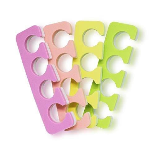 Toe Separators Set - Premium Pedicure Tool Kit 24 PCS Super Soft & Durable Two Tone ZMOI