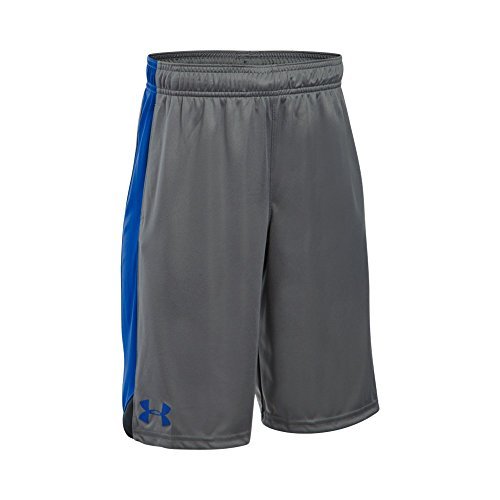 Under Armour Boy's Eliminator Shorts, Graphite /Royal, Youth Medium