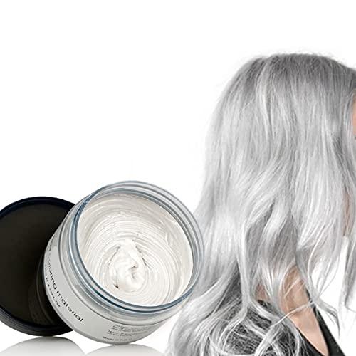 Haarfarbe Wachs Instant Haarfarbemittel Einweg-Haarschlamm Naturliche Frisur Creme Tempor?re Modelliermasse Pomade Unisex Weiß