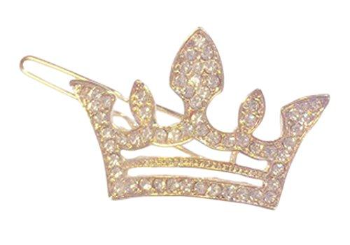 Plus Nao(プラスナオ) ヘアクリップ ヘアピン ヘアアクセサリー 髪留め 髪飾り ヘアアレンジ まとめ髪 王冠 クラウン ビジュー ゴールドカ - ゴールド