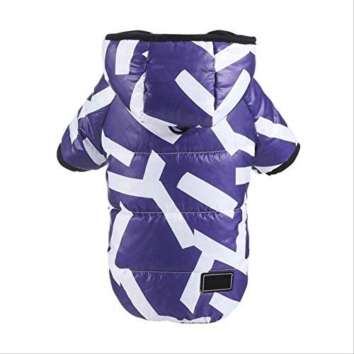XYBB hondenkleding voor honden, winterkleding, puppy's, katoen, gevoerd, XL, Paars.