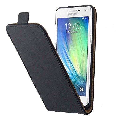 Schützen Sie Ihr Mobiltelefon Vertikale Flip Magnetic Button Leder Tasche für Samsung Galaxy A5 / A500 für Samsung Handy