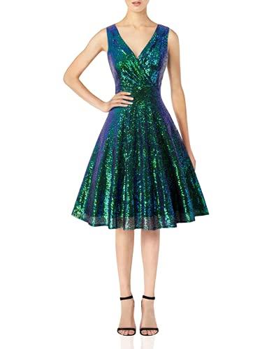 GRACE KARIN Sequin Cocktail Party Dress A-line Wedding Dress Size XL Dark Green CL061-8