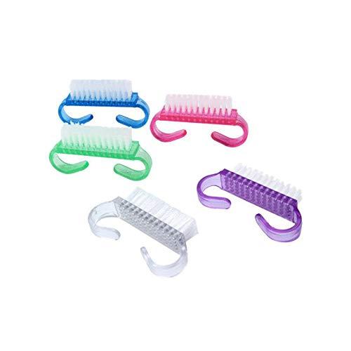 Jieddey Nagelbürste,5 PCS Griff Nagelbürsten Badebürste Tragbare Kunststoff Bürste Fingernagel Handbürste Reinigungsbürsten für Zehen und Nägel