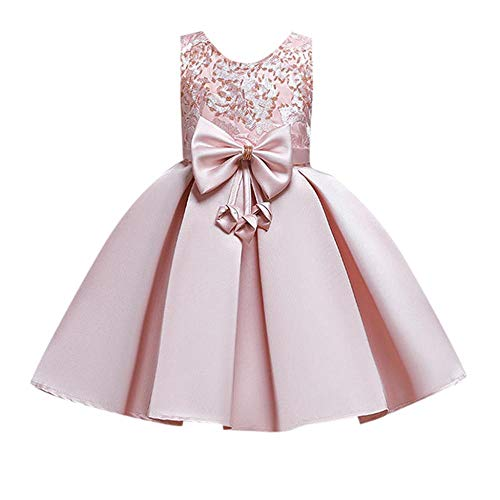 VJGOAL Vestido para niña Flores Bordado Princesa Vestido Arco Tutu Vestidos...
