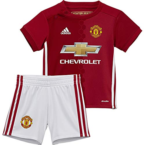 adidas Kinder Manchester United Mini-Heimausrüstung Fußballdress, Real Red/Power Red/White, 80