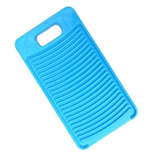 Angoily Mini Tablero de Plástico Antideslizante Ropa de Lavado de Casa Tablero de Fregado para Camisas Abrigo Toalla Limpia Lavandería 28X15 5X1 5 Cm Azul