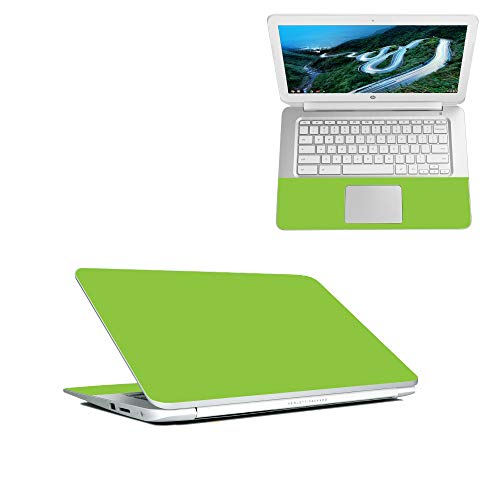 MightySkins Skin Compatible with HP Chromebook 14' (2018) - Solid Lime Green | Protective, Durable, and Unique Vinyl Decal wrap Cover | Easy to Apply, Remove, and Change Styles | Made in The USA