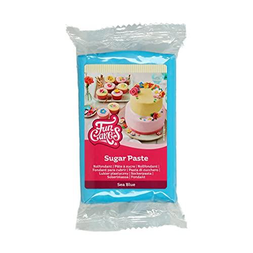 Funcakes Pasta De Azúcar Blanco Brillante: Fácil De Usar, Suave, Flexible, Blanda Y Flexible, Perfecta Para La Decoración De Tartas, Halal, Kosher Y Sin Gluten. 250 G 280 g