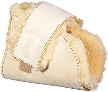 Patuco antiescaras Lambskin | Producto Premium | Máxima suavidad | Fabricado con piel de merino australiano | pie izquierdo