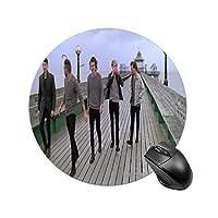 One Directionマウスパッド ゲーミング オフィス最適 高級感 おしゃれ耐久性が良 付着力が強い 直径25cm