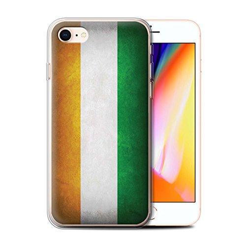 Telefoonhoesje voor Apple iPhone SE 2020 Vlaggen Ivoorkust Ontwerp Transparant Heldere Ultra Zachte Flexi Siliconen Gel/TPU Bumper Cover