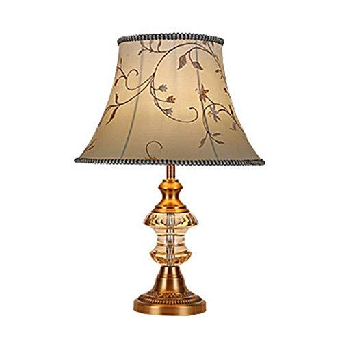 SKYHY224 Lámpara de Escritorio Lámpara de Mesa de Cristal Europea de Alta Gama Creativa, lámpara de Mesa para decoración de Dormitorio, Sala de Estar, lámpara de cabecera 40 * 60 cm