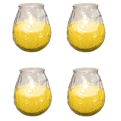 4X Prices Outdoor Citronella Candle In Glass Jar Fly Insect Repeller Repellent New