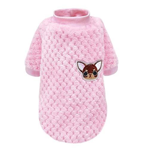 CosMos777 Winterjacke für Hunde, Welpen, Yorkshire Terrier, Mops, süße Hundekleidung für Chihuahua