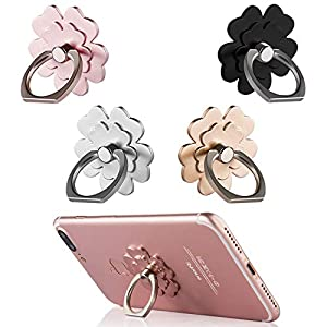 Phone Ring Stand [4 Pack] – Mengfly Universal Phone Finger Ring Grip Stand Holder Compatible with iPhone Xs Max XR X 8 7…