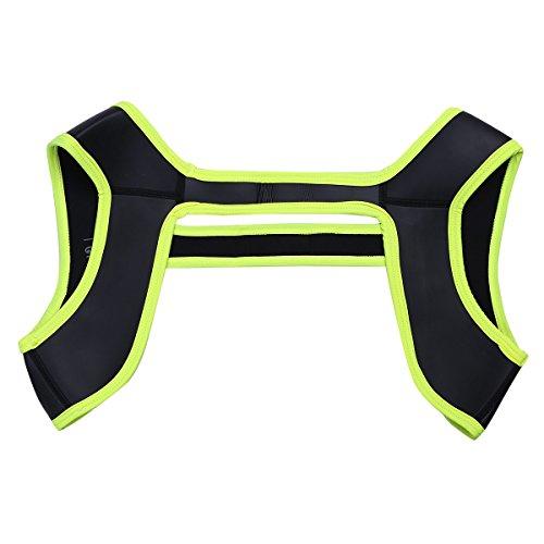 YiZYiF Homme Harnais Bandage Sport Épaulières Brace Bande Bretelle Poids Léger Réglable Gym Sport Support pour Homme Noir S