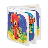 Playgro Libro de Baño Impermeable, Con Sonido, Desde los 3 Meses, Sin BPA, Splash Book, Rojo/Naranja/Azul/Verde/Lila, 40013