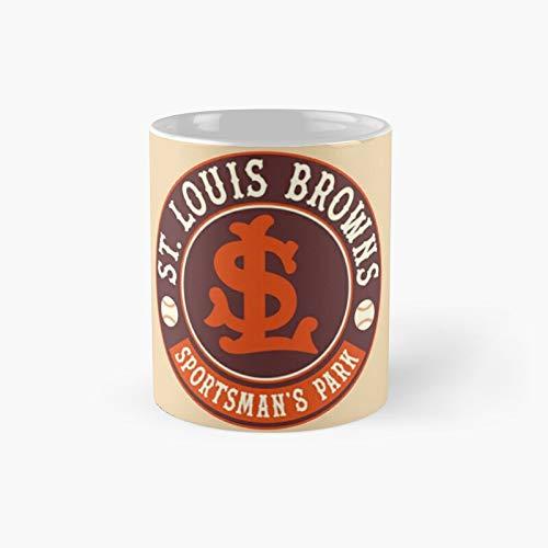 Defunct - Taza clásica retro de San Luis Browns, el mejor regalo, tazas de café divertidas, 11 onzas