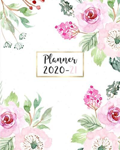 Planner 2020-21: Agenda settimanale 18 mesi ( Giugno 2020- Dicembre 2021) con spazi GRATITUDINE  giornalieri e frasi motivazionali.