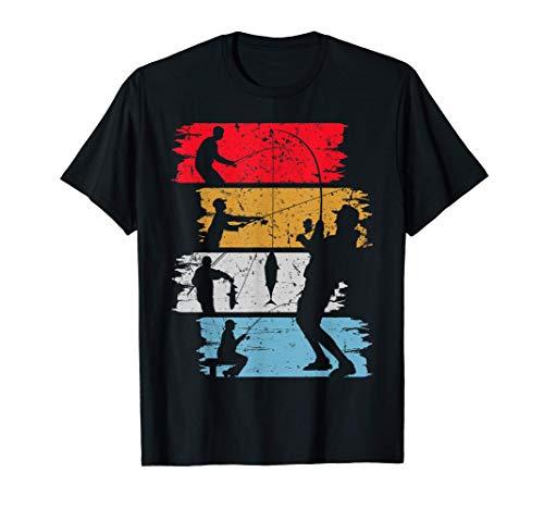 Regalo de pescador de aspecto vintage para el pescador Motiv Camiseta