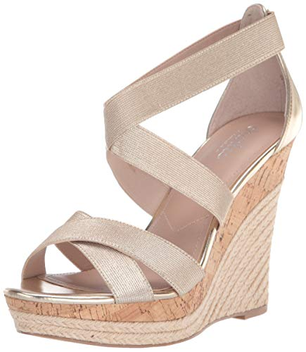 Charles by Charles David womens Azures Wedge Sandal, Lt Gold, 8.5 US
