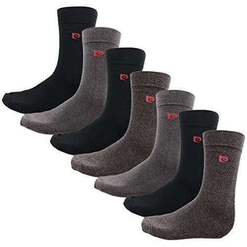 Pierre Cardin - Herrensocken aus einer Baumwollmischung für Herren - Grautöne - Größe 40-45 (7 Paare)
