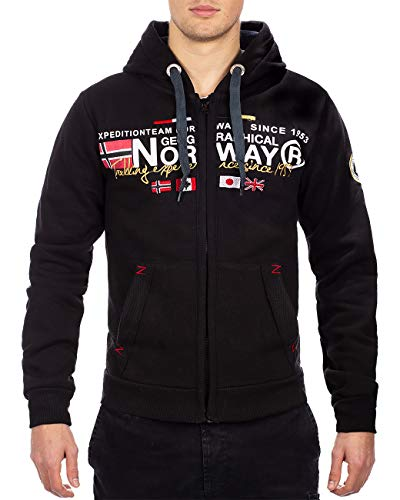 Geographical Norway Uomo Felpa Nero L
