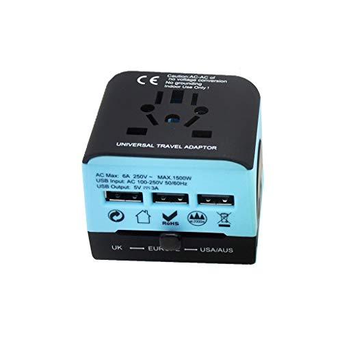 Adaptador de corriente internacional Adaptador de energía internacional para conversión Enchufe Travel Enchufe Travel Tapón de conversión multifunción para 150 países Convertidores de energía en todo