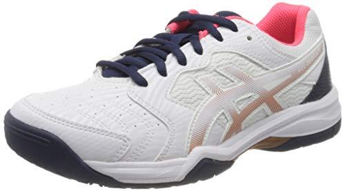 Asics 1042a067-103_39,5, Zapatillas de Tenis para Mujer, Blanco, 39.5 EU