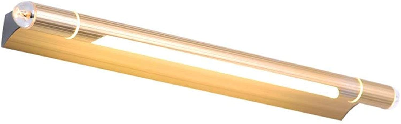 BAIF Led-Spiegel Scheinwerfer Bad Badezimmerspiegel Lampe Wandleuchte Make-Up Lampe Einfache wasserdichte Anti-Fog Lange Spiegel Schrankbeleuchtung (Farbe  Gold-L)