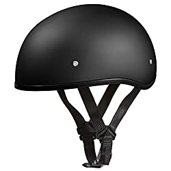 top 10 lightest motorcycle half helmet Daytona Helmet Motorcycle Skull Cap Half Helmet – Matte Black without Visor, 100% DOT Approved