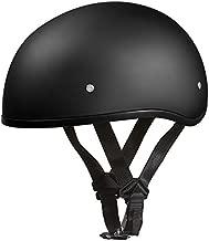Daytona Helmets Half Skull Cap Motorcycle Helmet – DOT Approved [Dull Black] [L]