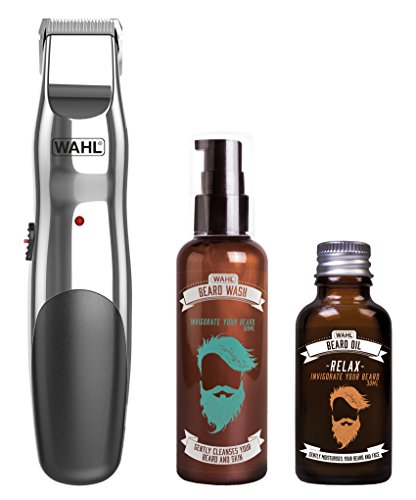 Wahl Beard Trimmer Men, Beard Oil and Beard Wash Gifts for Men, Hair Trimmers for Men, Stubble Trimmer, Male Grooming Set