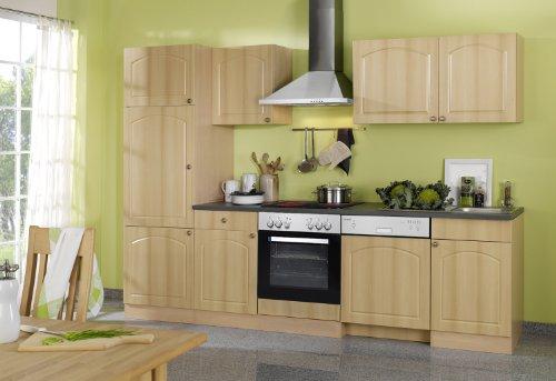 Held Möbel 658.6040 Küchenzeile 280 in Buche / Anthrazit