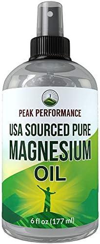Pure Magnesium Oil Spray by Peak Performance USA Sourced USP Grade Nemenhah Certified Transdermal product image