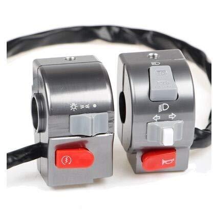SHENLIJUAN Interruptor de Control de Manillar Light Cuerno for Y-a-m-h-a a 22 mm RSZ/Cygnus-X/BWS 125 Universal eléctrica de la Motocicleta Scooter 7/8' (Color : Grey, Size : Gratis)