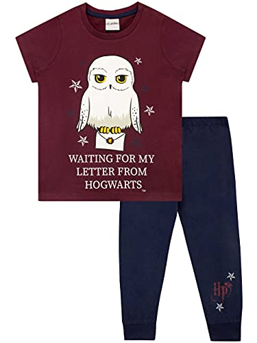 HARRY POTTER Pijamas de Manga Corta para niñas Hedwig Azul 11 - 12 Años