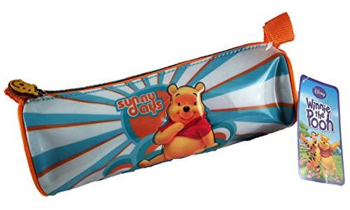 Disney Winnie The Pooh Astuccio per bambini pratico e multifunzione, 21 x 11,5 x 8 cm