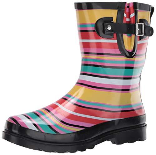 Western Chief Waterproof Mid Rain Boot Solstice Stripe 10 M