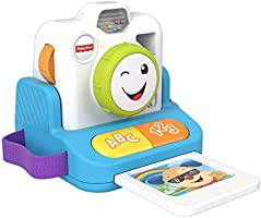 Fisher-Price Laugh & Learn Click & Learn Instant Camera, Early Role Play Toy with Music and Light for Baby and Toddlers...