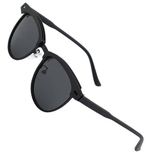 CGID GD91 Marco de metal mate estilo gafas de sol polarizadas marca...