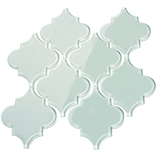 Giorgio Bello Arabesque Fliese aus Glas 2 Sheets babyblau