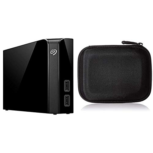 Seagate 8 TB Backup Plus Hub USB 3.0 Desktop 3.5 Inch External Hard Drive for PC and Mac with 2 Months Free Adobe Creative Cloud Photography Plan & Amazon Basics Hard Black Carrying Case