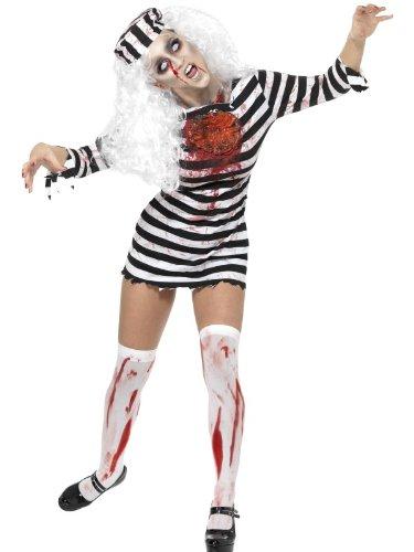 Femme Déguisement Halloween Déguisement Zombie Prisonnier déguisement UK Robe 8-10