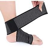 Fascia supporto per piede e caviglia, cavigliera elastica regolabile con...