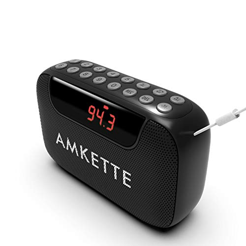 Amkette Pocket Blast Bluetooth Speaker with FM, USB/SD MP3 Player with Number Pad and Voice/FM Recording