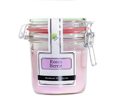 Parfüme Boutique 1106372rb Vintage Vintage Verre – L – Roses Berry Bougie parfumée dans Verre, Rose, 13 x 13 x 12 cm